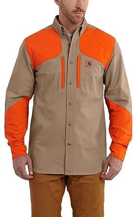 aa58995ae9eb9 Carhartt Men's 102258 Upland Long Sleeve Field Shirt - 2X-Large Regular -  Dark Khaki