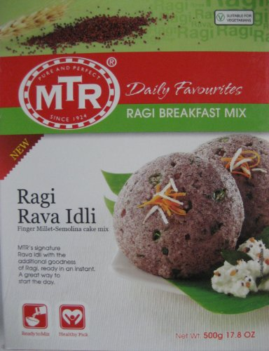 MTR Ragi Rava Idli 500 Gm (Pack of 2) (Free Shipping) by Subhlaxmi Grocers