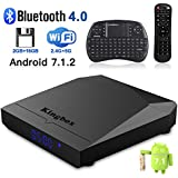 Kingbox Android TV Box, K3 Android 7.1 Box Amlogic S912 Octa-Core 64 Bits 2GB/16GB Support Dual WiFi 2.4+5GHz/BT 4.0/4K/3D/1000M LAN Android Smart TV Box, Free Mini Keyboard [2018 Latest Version]