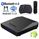 Kingbox Android TV Box, K3 Android 7.1 Box with Amlogic S912 Octa-Core 64 Bits 2GB/16GB support Dual WiFi 2.4+5GHz/3D/4K/BT 4.0/1000M LAN Android Smart TV Box, Free Mini Keyboard [2018 Latest Version]