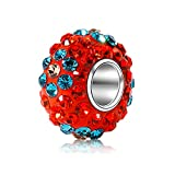 Best Spacers With Red Crystals - BEAUTY CHARM 925 Sterling Silver Czech Glass Crystal Review