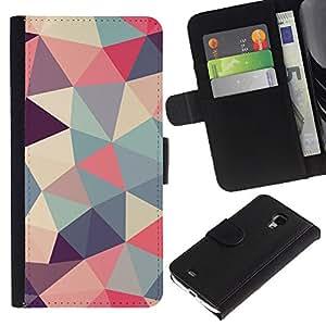 [Neutron-Star] Modelo colorido cuero de la carpeta del tirón del caso cubierta piel Holster Funda protecció Para Samsung Galaxy S4 Mini i9190 (NOT S4) [Modelo en colores pastel del trullo Rosa]