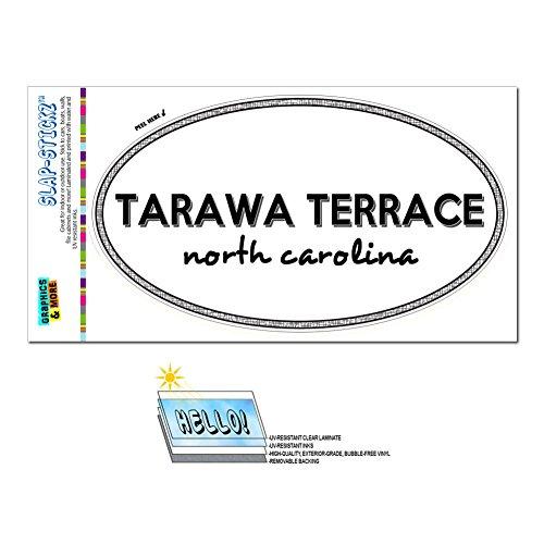 Graphics and More Euro Oval Window Bumper Laminated Sticker North Carolina NC City State She - Win - Tarawa (North Terrace)