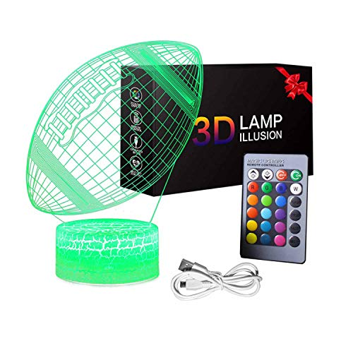 YAZOM 3D Illusion Night Light 16 Colors Changing with Remote Control Novelty Toys for Kids Gift Idea for Boys Girls