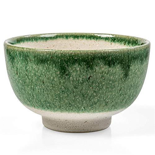 (1PCS Matcha Bowl - Ceramic Bowls Japanese Design for Soup/Noodles/Desserts/Miso/Salad/Dipping Bowl Full Kit Set Suitable for family restaurants)