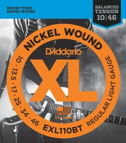 D'Addario EXL110BTx5  Electric Guitar Strings, Balanced Tens