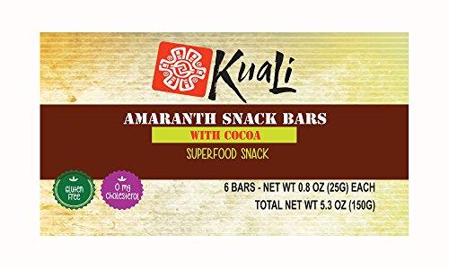 Amazon.com: Kuali Amaranth Bars with Cocoa (Pack of 6) Ancient Grains Bars - Amaranth Superfood Snack Bars - Barras de Amaranto - Alegria - Vegan - Gluten ...