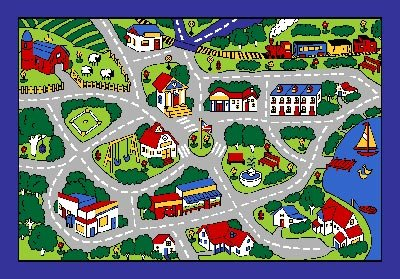 Good Amazon.com: Kids Area Rug   Street Map Grey (3 Ft. 3 In. X 4 Ft. 10 In.):  Kitchen U0026 Dining