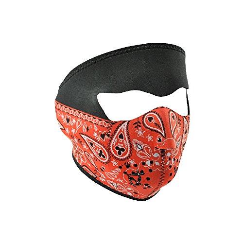 ZANheadgear Paisley Neoprene Face Mask Bandanna (Red)
