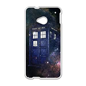 Police Box Star Galaxy White htc m7 case by Maris's Diary