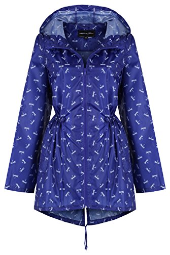 Finesse Imprimé Bleu Libellule Regenjacke Damen Raindrops By 56WCvw5qS