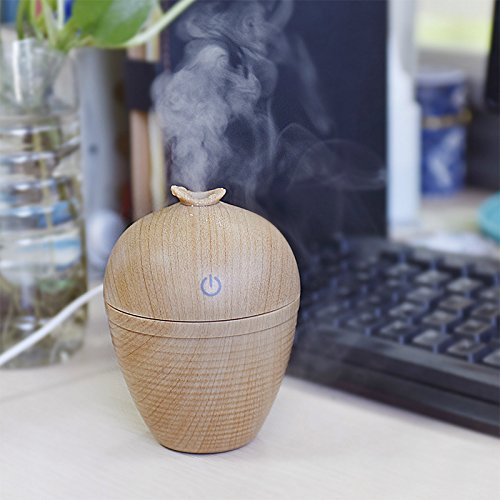 Wish Bottle Shaped USB Mini Portable Wood Grain Air Humidifier for Home Office Car by YTQ (Image #5)
