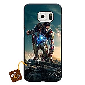 Novelty Samsung Galaxy S6 Edge Case Iron Man Series Solid Case Cover Phone Accessories