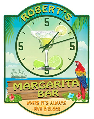 Amazon.com: Margarita Bar s Always Five O Clock Reloj de ...