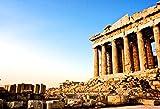 OFILA Greek Backdrop 7x5ft Athens Parthenon Temple Ancient Greek Buildings Blue Sky Travel Landscape Wallpaper Decoration Children Baby Kids Toddler Photos Digital Video Studio Props