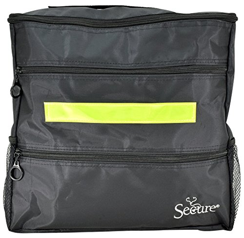 - Secure WBP-1B Wheelchair Storage Backpack Bag with Multiple Pockets and Nighttime Safety Reflector, Black (13