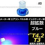 LED T4.2 T3 エアコン メーター スイッチ インジゲーター ポジション 球 超拡散 全面発光 COB タイプ ブルー 青 汎用品 1個 シーマ フリード ステップワゴン ハイエース フィット