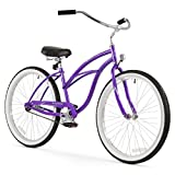 "Firmstrong Urban Lady Single Speed - Women's 26"" Beach Cruiser Bike (Purple)"