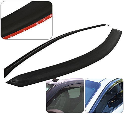 Window Visor Door Rain Guard Shade Wind Sun Deflector Aerodynamic Vent Ventilation Tape-On 2 Pieces For Dodge Dakota Regular Extended - Cab Aerodynamic