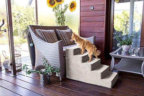 BOUTIQUE ZOO Hundetreppe in 3 Größen & 12 Farben | Katzentreppe Haustiertreppe | Hunde Katzen Haustier | für Bett und…