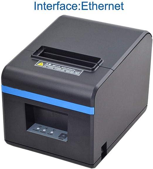 Impresora térmica de recibos, mini etiquetas portátil pequeña con ...