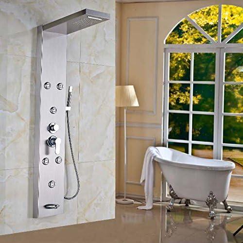 Senlesen - Columna de ducha, ducha de lluvia, cascada, hidromasaje ...