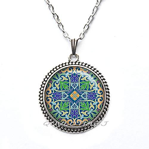 (QUVLOTIAZJ Celtic Cross Necklace,Celtic Cross Jewelry Celtic Jewellery Celtic Necklace Celtic Cross Necklace Religious Necklace Silver Cross Jewelry,ot88 (A1))