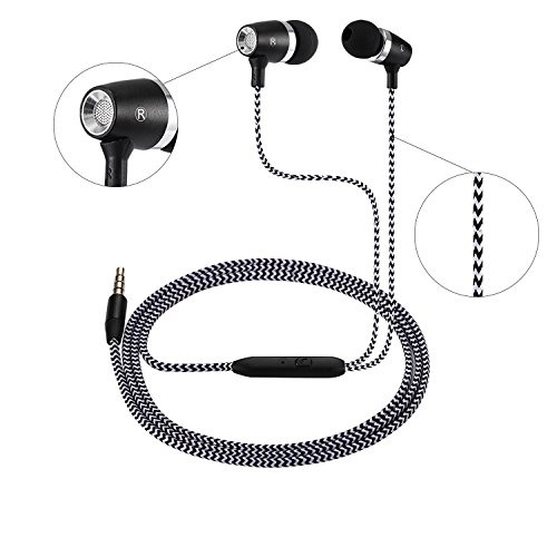 Earbuds, Monez iPhone Headphones Earphones Earbuds with Mic/Microphone for Earpods Apple in Ear Earphones for iPhone 6s 6 5s SE 5c 4s iPad 1 2 3 4 iPod 5 6 Android Samsung Galaxy S8 / S8 Plus S7 S6 S5