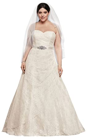 Allover Lace Plus Size A-Line Wedding Dress Style 9WG3805 at Amazon ... 92488bf4cc1b