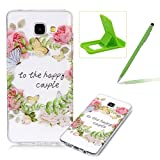 Clear TPU Case for Samsung Galaxy A510 2016,Soft Rubber Cover for Samsung Galaxy A510 2016,Herzzer Slim Elegant [Colorful Printed] Shock-Absorbing Silicone Gel Bumper Flexible Transparent Skin Case for Samsung Galaxy A510 2016