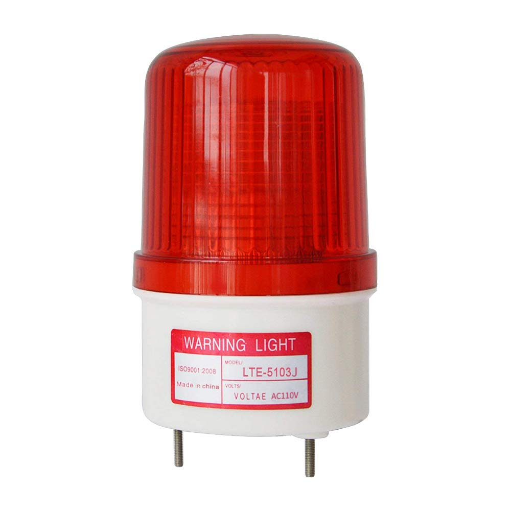 LTE-5103J Led Strobe Light Siren Industrial Flashing Sound Alarm Light with Buzzer 90dB AC110V-120V by hzys