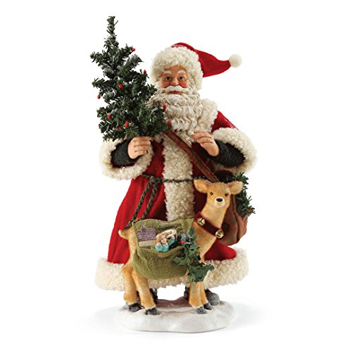 Department 56 Possible Dreams Santa Claus Going Stag Clothtique Christmas Figurine