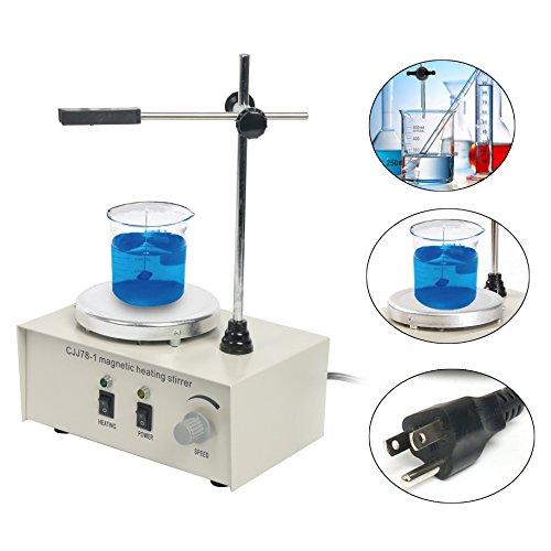 110V/50Hz 78-1 Magnetism Stirrer Heating Mixer Hot Plate Magnetic Stirrer Machine 1000ML by YaeCCC