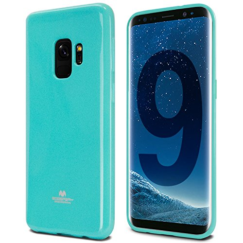 Galaxy S9 Case, [Thin Slim] GOOSPERY [Flexible] Pearl Jelly Rubber TPU Case [Lightweight] Bumper Cover [Impact Resistant] for Samsung Galaxy S9 (Mint) S9-JEL-MNT ()