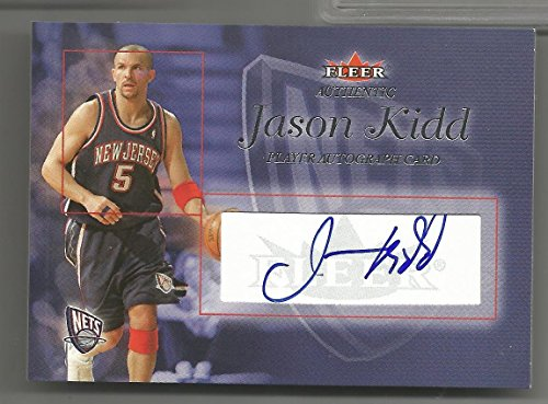 2004-05 Fleer Authentic Basketball Jason Kidd Autograph Card # 105/225