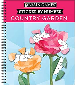 Amazon Com Brain Games Sticker By Number Country Garden