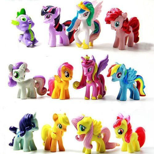 12pcs/lot Twilight Sparkle Friendship Is Magic Little Horse