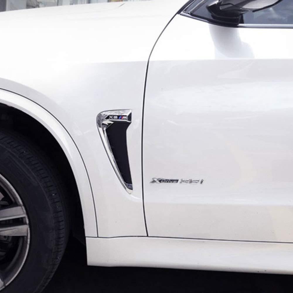 CFHMLK Pannello decorativo Per BMW X5 F15 X5M LOGO 2014 2015 2016 2017 Car Side Air Flow Parafango Cover Trim Sticker Decorazione Accessori auto Car Styling