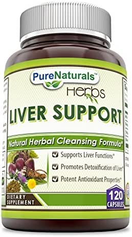 Pure Naturals Liver Support Dietary Supplement 372.340 Milligrams 120 Capsules- Promotes Overall Liver Health - Supports Your Detoxification Efforts