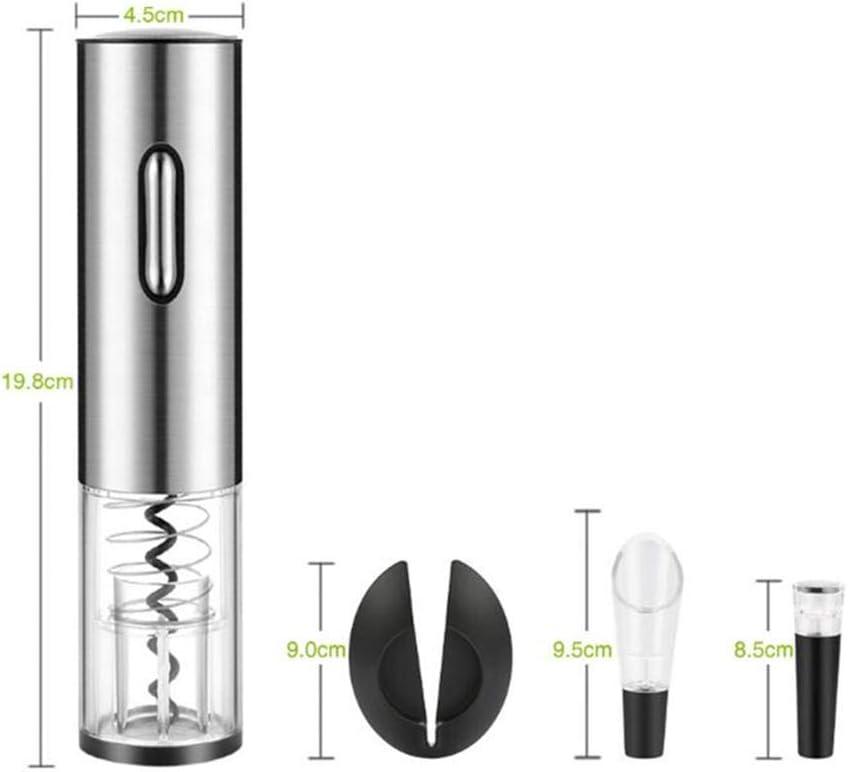 YSYPET Cacciavite per Vino Set di Quattro Pezzi Apribottiglie Elettrico, Tappo sottovuoto per Vino, Versatore e Lamina Silver