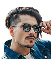Round Retro Polarized Sunglasses Driving Shopping Glasses...