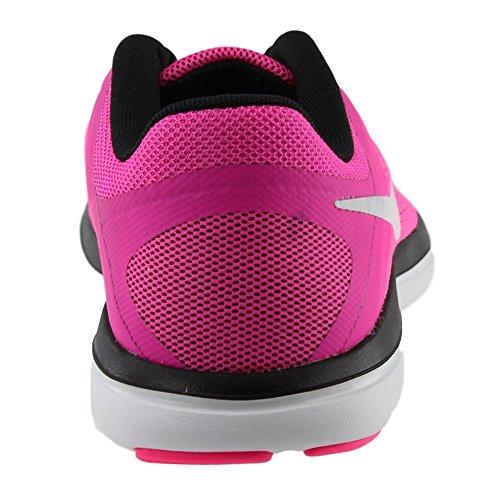Femmes Nike Flex 2016 Chaussures De Course Rn Explosion Rose Blanc Noir 600