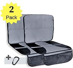 Protector asiento coche 2 paquetes funda asiento coche protector de asiento para coche - Protector coche silla bebe ...