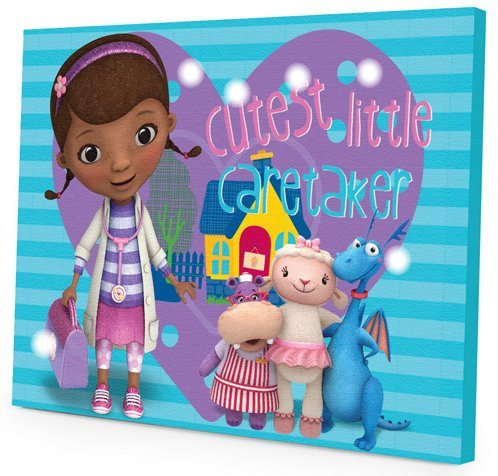 Doc McStuffins Canvas Wall Art with LED Lights