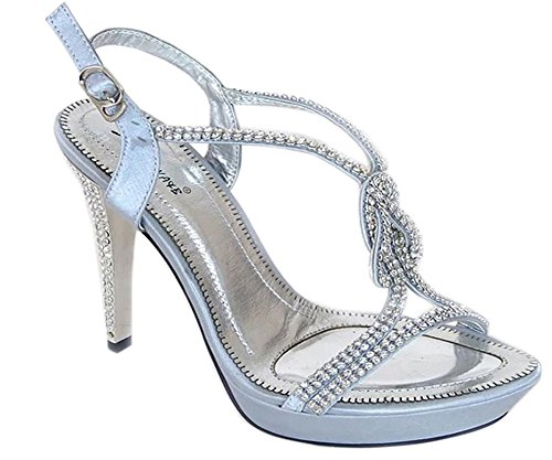 6 786 Jewel Aaishaz para Perspex Silver mujer Heel Sandals Scrappy HIGH Stiletto AB2355 Shoes qUwIC6xw