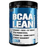 energy recovery - Evlution Nutrition BCAA Lean Energy - Energizing Amino Acid for Muscle Building Recovery and Endurance, With a fat burning formula, 30 Servings (Blue Raz)