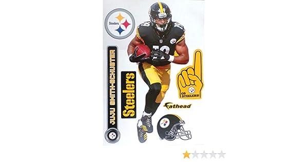 1e83d35d7ef Amazon.com  FATHEAD Juju Smith-Schuster Pittsburgh Steelers Logo Set Official  NFL Vinyl Wall Graphics 17