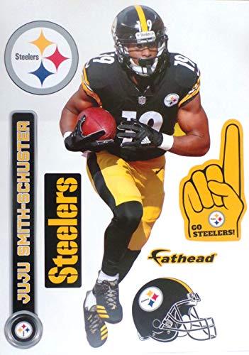 Vinyl Fathead (FATHEAD Juju Smith-Schuster Pittsburgh Steelers Logo Set Official NFL Vinyl Wall Graphics 17