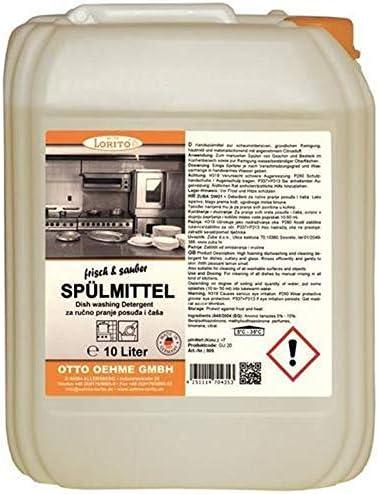 Lorito Limone - Detergente para lavavajillas (10 L, para ...