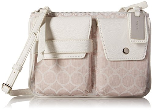 Nine West Pop Pocket Crossbody, Light Khaki White/Light Khaki White/Snow Petal